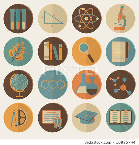 Set of flat education icons for design 10985744