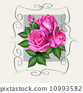 Romantic floral background with pink roses flowers 10993582