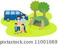 캠핑을하는 가족 11001069