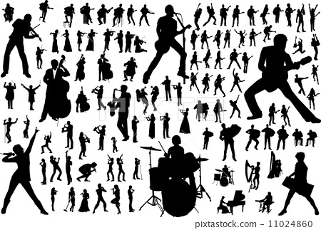Music Vector Silhouettes 11024860
