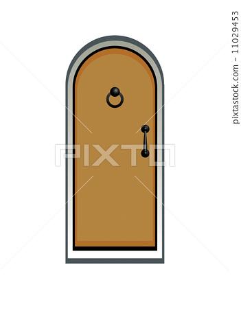 wooden door illustration 11029453