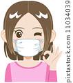 Mask girl 11034039