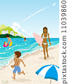 海水浴 矢量 海浪 11039860