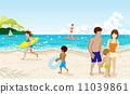 海水浴 矢量 人 11039861