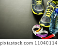 Sport shoes, measuring type and water 11040114