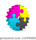 jigsaw, machine, cmyk 11040668