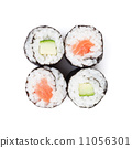 Sushi maki with salmon and cucumber 11056301