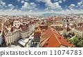 Beautiful cityscape of Prague, Czech Republic. 11074783