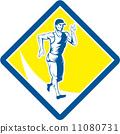 马拉松赛跑 复古 种族 11080731