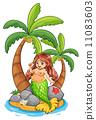 drawing mermaid cartoon 11083603