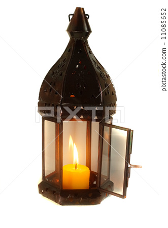 Lamp with lighted candle 11085652