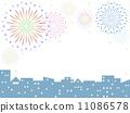 cityscape, pyrotechnics, firework 11086578