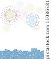 cityscape, pyrotechnics, firework 11086581