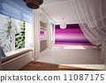 hall, wallpaper, room 11087175