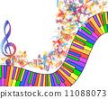 clef multicolor musical 11088073