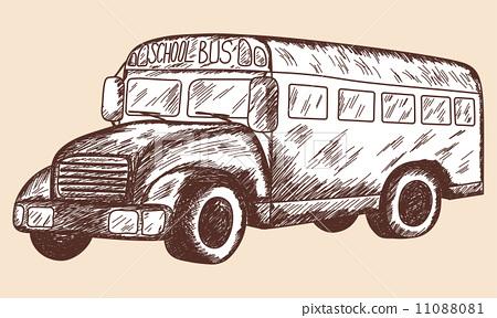 School bus sketch 11088081