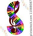 clef multicolor music 11088087