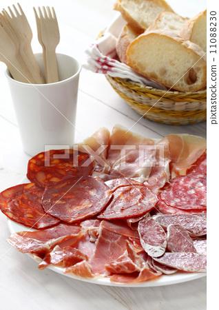 西班牙,生火腿,乾香腸,薩拉米香腸,什錦 11088230