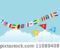 旗幟 旗 橫幅 11089408