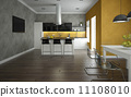 Interior of a modern kitchen and dining room 11108010
