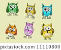 绘画 猫头鹰 可爱 11119800