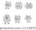 绘画 猫头鹰 动物 11119870
