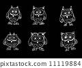 绘画 猫头鹰 可爱 11119884