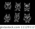 绘画 猫头鹰 动物 11120112