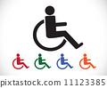 輪椅 ICON 圖示 11123385