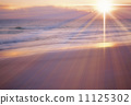 Beam Of Light, sunset, ocean 11125302