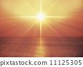 Beam Of Light, sunset, ocean 11125305