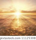 sun, Beam Of Light, blue water 11125308