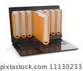 file, laptop, folder 11130233