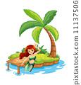 drawing mermaid cartoon 11137506