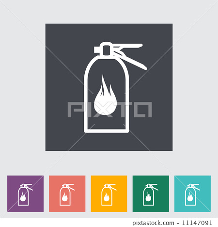 Fire extinguisher flat icon. 11147091