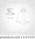 Romantic vintage style wedding invitation 11151533