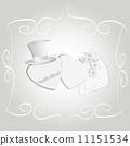 Romantic vintage style wedding invitation 11151534