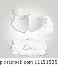 Romantic vintage style wedding invitation 11151535