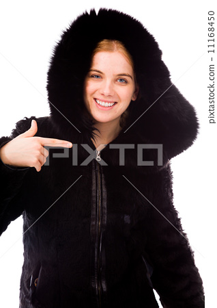 Young woman showing smiley face 11168450