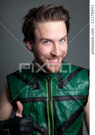 Attractive caucasian man shot in studio 11178941