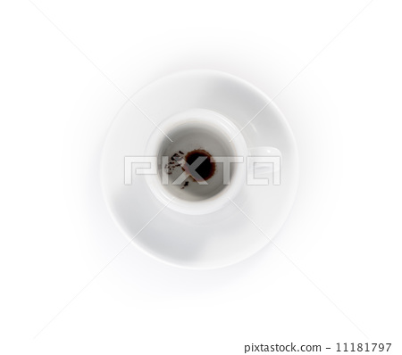 empty espresso cups isolated on a white background 11181797