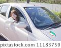 一個女人開著初學者的標記 11183759