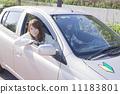 一個女人開著初學者的標記 11183801