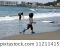 小孩 海岸 男孩 11211415