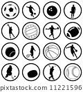 vector, soccer, icon 11221596