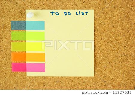 To do list sticker on the cork 11227633