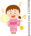 浴衣 儿童 孩子 11239608