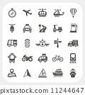 Transportation icons set 11244647