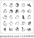 Animals icons set 11244649