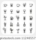 Drink and Beverage icons set 11246557
